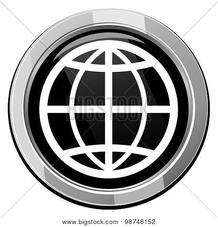 Earth Round Icon. Vector Illustration.
