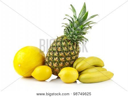 Group Of Yellow Fruits