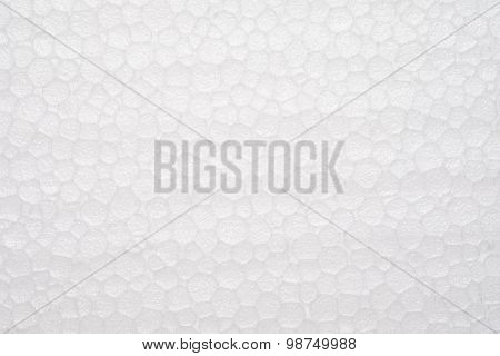 White plastic foam Texture Background