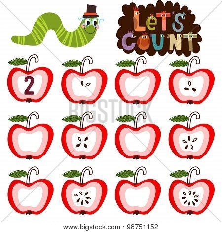 Let's Count- Learn To Count Numbers Funny Cartoon (all Objects Are Isolated Groups So You Can Move A