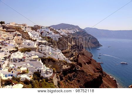 Beautiful View Of Oia Village, Caldera And Aegean Sea, Santorini