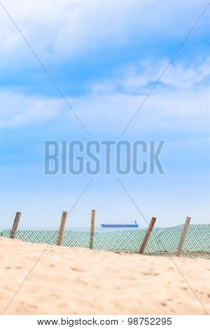 Windbreaker Fence at the Beach
