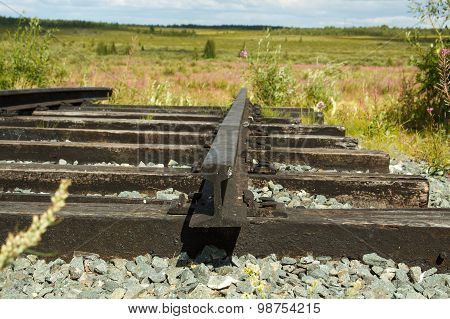 Rails Of Railroad Tracks