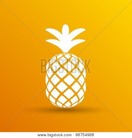 Pineapple closeup cartoon sketch hand drawn illustration