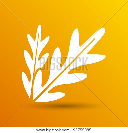 arugula foliage logo element icon food vegetarian
