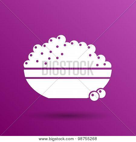 Black caviar logo seafood vector appetite appetizer