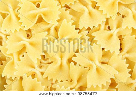 Bow tie pasta background