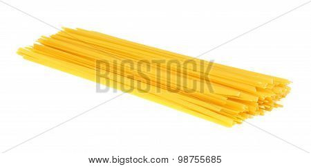 Fettuccine pasta isolated on white