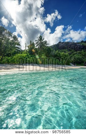 Crystal Clear Sea Water And Soft Sandy Beach
