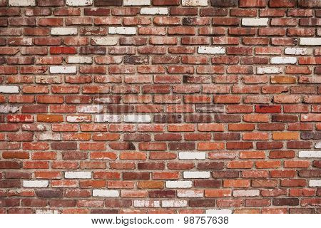 Red brick old wall texture grunge background