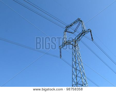 Photo Of Transmission Tower (electricity Pylon) During Sunny Day
