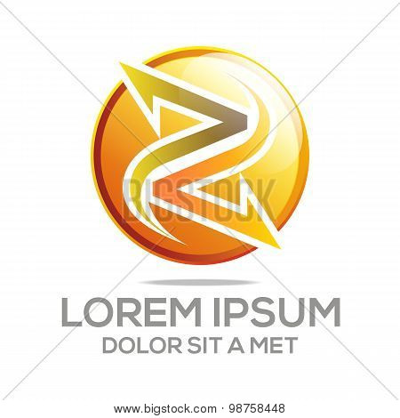 Logo abstract letter symbol element vector