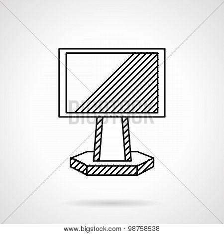 Ad panel vector icon