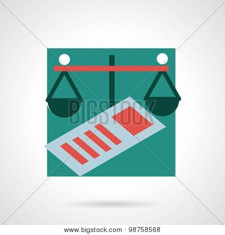 Finance flat vector icon