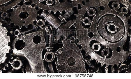 Scrap metal steel textures and patterns creative designs