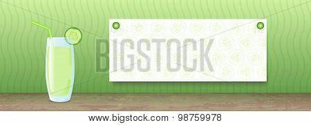 Juice Banner. Cucumber