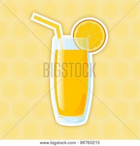 Juice Icon. Orange
