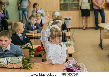 September First-the Day Of Knowledge In Russia.