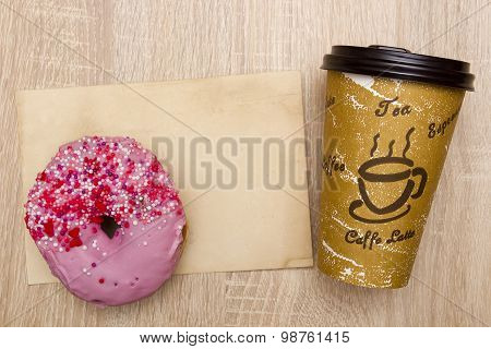 Takeaway Coffee And Donut