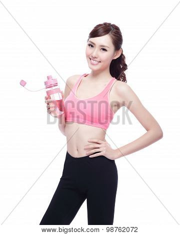 Sport Girl With Water