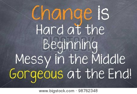 Change is hard at the beginning