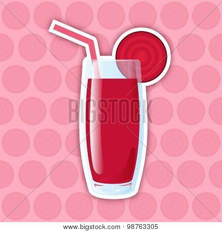 Juice Icon. Beet