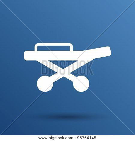 Cutting fretsaw symbol appliance icon Vector illustration