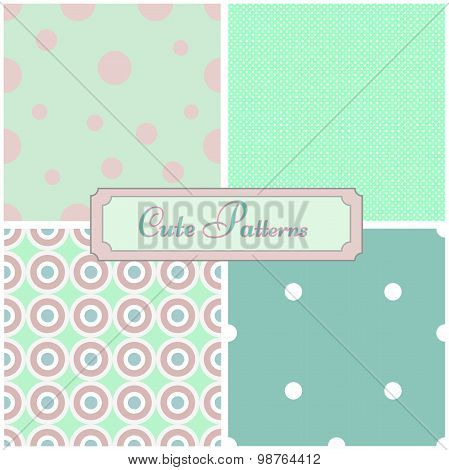 abstract geometric seamless patterns.  background.Vector illustration design
