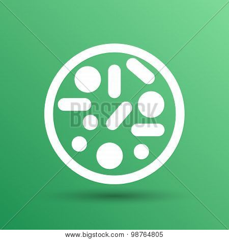 Vector icon Biochemistry microbiology Microorganisms Bacterias