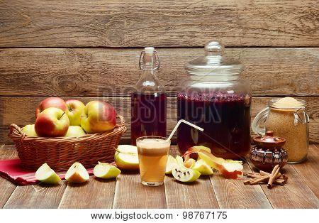 Delicious Homemade Apple Juice.