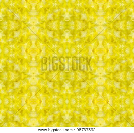 Star Fruit Seamless Pattern Backround