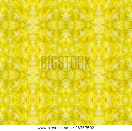 Star Fruit Seamless Pattern Backround