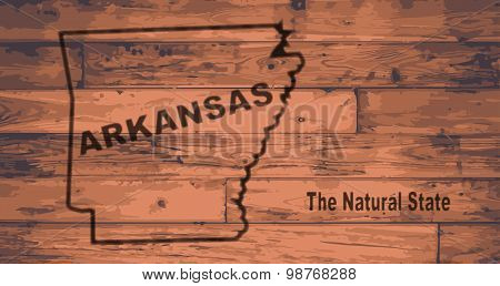 Arkansas Map Brand