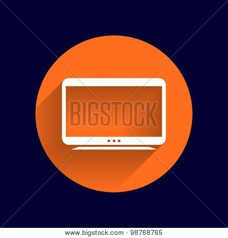 tv icon vector flatscreen hd lcd