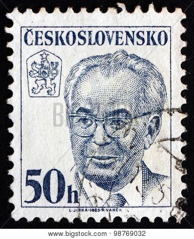 Postage Stamp Czechoslovakia 1983 President Gustav Husak