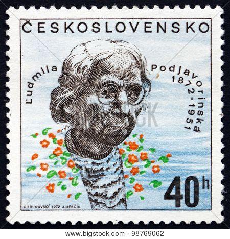 Postage Stamp Czechoslovakia 1972 Ludmila Podjavorinska, Writer
