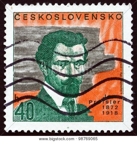 Postage Stamp Czechoslovakia 1972 Jan Preisler, Painter