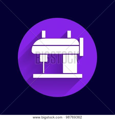 Sewing machine vector icon raft embroidery tool clothes