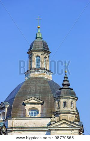 Baroque Church Dome In Monastery