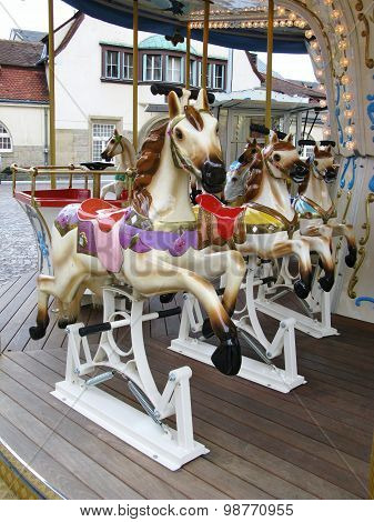 Carousel in the city