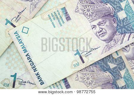 Close Up Of Malaysian Ringgits
