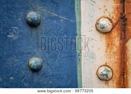 Old rusty rivet