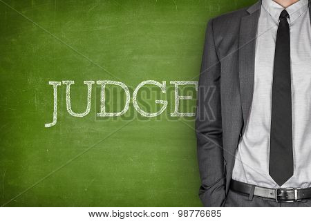 Judge on blackboard