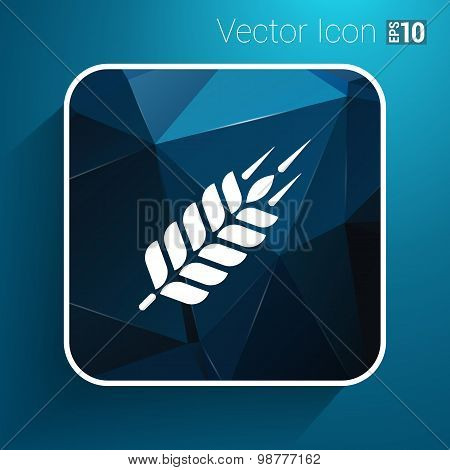 Wheat ear technical logo template. Construction or building sign
