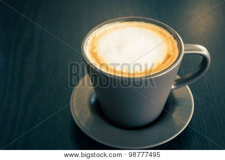 Coffee Cup On The Table.