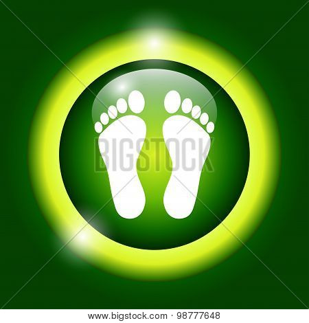 Footprint - Vector Icon