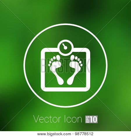 Scale icon iweight vector diet symbol dieting balance