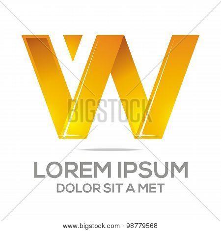 Logo letter w alphabet vector