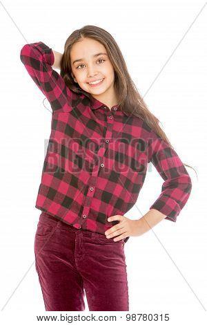 Stylish girl of secondary school age