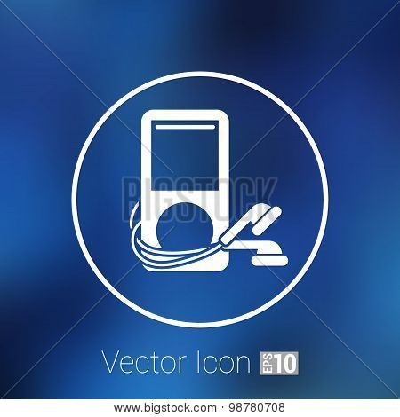mp3 player - Original design  icon screen stereo vector